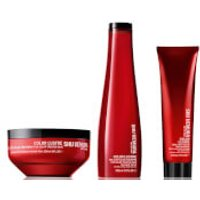 Shu Uemura Art of Hair Color Lustre Color Lustre Sulfate Free Shampoo (300ml), Masque (200ml) and Th