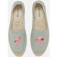 Soludos Women's Espadrille Smoking Slippers - Flamingo Chambray - UK 8 - Blue