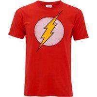 DC Comics Mens Flash Distress T-Shirt - Red - M - Red
