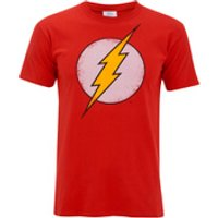 DC Comics Men's Flash Distress T-Shirt - Red - XL - Red