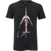 Star Wars Mens Kylo Ren Lightsaber T-Shirt - Black - M - Black