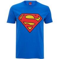 DC Comics Men's Superman Logo T-Shirt - Royal Blue - XXL - Blue - Blue Gifts