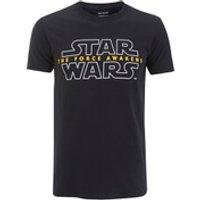 Star Wars Mens Force Awakens Logo T-Shirt - Black - S