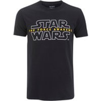 Star Wars Mens Force Awakens Logo T-Shirt - Black - S - Black
