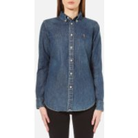 Polo Ralph Lauren Women's Harper Shirt - Blaine Wash - M/UK 10 - Blue