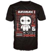 Disney Big Hero 6 Baymax Pop! T-Shirt - Black - XL - Black - Baymax Gifts