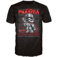 Star Wars The Force Awakens Captain Phasma Poster Pop! T-Shirt - Black - M