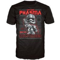 Star Wars The Force Awakens Captain Phasma Poster Pop! T-Shirt - Black - XL - Black