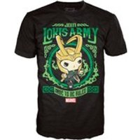 Marvel Thor Loki's Army Pop! T-Shirt - Black - L - Black - Marvel Gifts