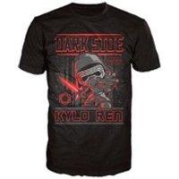 Star Wars The Force Awakens Kylo Ren Poster Pop! T-Shirt - Black - M - Black