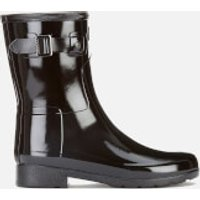 Hunter Women's Original Refined Short Gloss Wellies - Black - UK 5 - Black