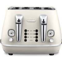 DeLonghi CTI4003.W Distinta 4 Slice Toaster - White Finish