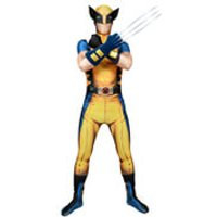 Morphsuit Adults' Deluxe Zapper Marvel Wolverine - XL - Yellow - Wolverine Gifts