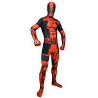 Morphsuit Adults' Deluxe Zapper Marvel Deadpool - M - Red - Deadpool Gifts