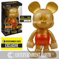 Disney Mickey Mouse Gold Glitter Hikari Sofubi Entertainment Earth Exclusive Vinyl Figure