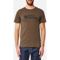 Fjallraven Mens Logo T-Shirt - Tarmac - XL - Brown