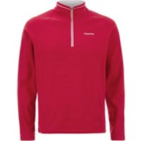Craghoppers Mens Selby Half Zip Microfleece Jumper - Chilli - M - Red