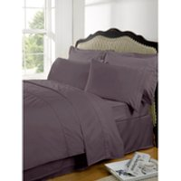 Highams 100% Egyptian Cotton Plain Dyed Fitted Sheet - Vintage Mauve [China Sizing Only] - Large/150x200cm - Purple