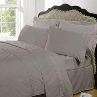 Highams 100% Egyptian Cotton Plain Dyed Bedding Set - Portabello - Large/220x240cm