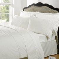 Highams 100% Egyptian Cotton Plain Dyed Bedding Set - Cream - Medium/200x230cm