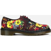 Dr. Martens Women's Lester Flat Shoes - Cherry Red Hawaiian - UK 9 - Red/Multi