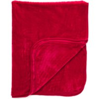 Dreamscene Luxurious Faux Fur Throw - Red - 125x150cm - Red