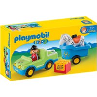 Playmobil 1.2.3. Car with Horse Trailer (6958) - Playmobil Gifts