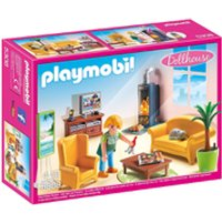 Playmobil Dollhouse Sitting Room with Fireplace (5308) - Toys Gifts
