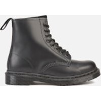 Dr. Martens 1460 Mono Smooth Leather 8-Eye Boots - Black - UK 8