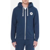 Converse Mens Full-Zip Hoody - Nighttime Navy - S - Blue