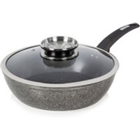 Tower T81202 Forged Saute Pan with Cerastone Coating - Graphite - 28cm