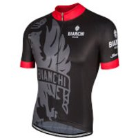 Bianchi Men's Cinca Short Sleeve Jersey - Black/Red - S - Black