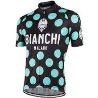 Bianchi Mens Pride Short Sleeve Jersey - Black/Green - S - Black