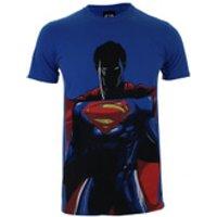 DC Comics Men's Batman v Superman Superman T-Shirt - Royal - L - Blue - Batman Gifts
