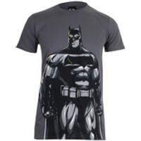 DC Comics Mens Batman v Superman Batman T-Shirt - Charcoal - M - Grey