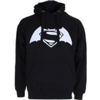 DC Comics Mens Batman v Superman Logo Hoody - Black - XL