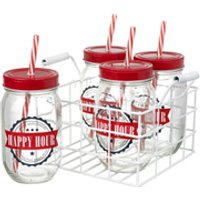 Parlane Happy Hour Drinks Jars (Set of 4)