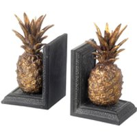 Parlane Pineapple Bookends - Metallic - Pineapple Gifts