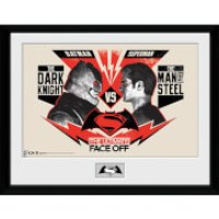 DC Comics Batman v Superman Dawn of Justice Face Off - 16 x 12 Inches Framed Photographic - Superman Gifts