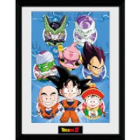 Dragonball Z Chibi Characters - 16 x 12 Inches Framed Photographic