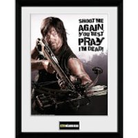 The Walking Dead Daryl Shoot Me - 16 x 12 Inches Framed Photographic - Walking Gifts