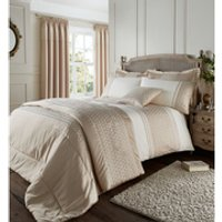 Catherine Lansfield Lille Bedding Set - Gold - Double - Gold
