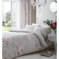 Catherine Lansfield Canterbury Duvet Set - Single - Grey - Bedding Gifts