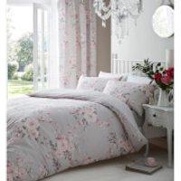 Catherine Lansfield Canterbury Duvet Set - King - Grey - Bedding Gifts