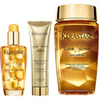 Krastase Elixir Ultime Huile Lavante Bain 250ml, Crme Fine 150ml and Original Hair Oil 100ml Bundle