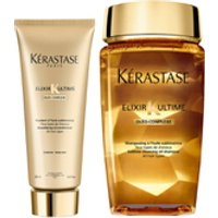 Kerastase Elixir Ultime Huile Lavante Bain 250ml and Elixir Ultime Fondant Conditioner 200ml Duo