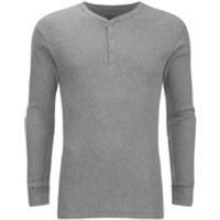 Levis Mens Long Sleeve Grandad Top - Grey Marl - M - Grey