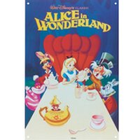 Disney Film Posters Alice Large Tin Sign - Posters Gifts