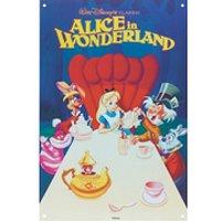 Placa metálica Disney Alicia en el País de las Maravillas