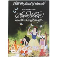 Disney Film Posters Snow White Large Tin Sign - Posters Gifts